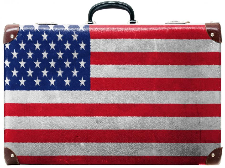 the usa flag suitcase